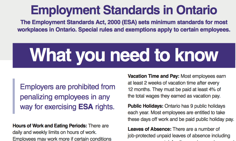how to work out vacation pay in ontario